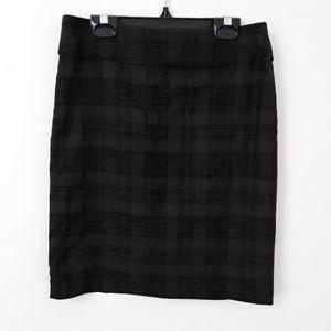 Plaid Stretch Skirt